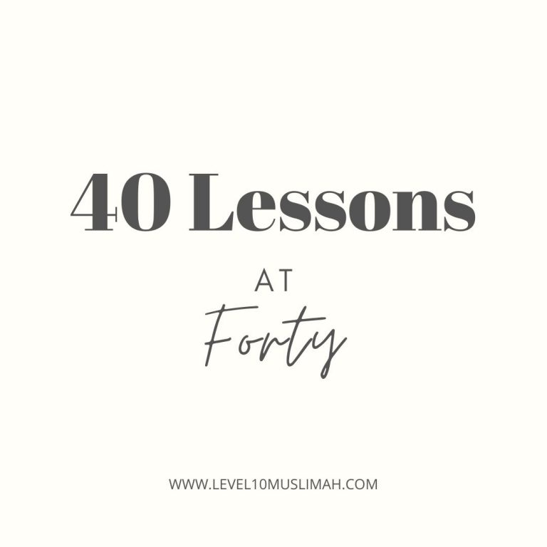 40 Lessons at Forty