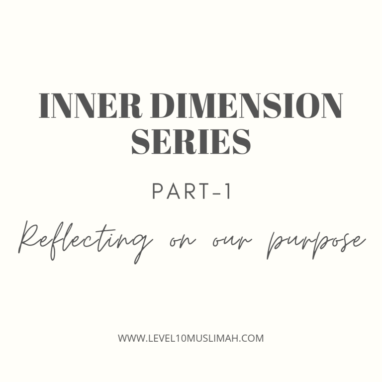INNER DIMENSION SERIES PART 1 | Reflecting on Our Purpose